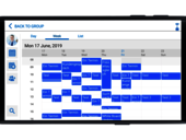 Single landscape mode view - your personal weekly summary